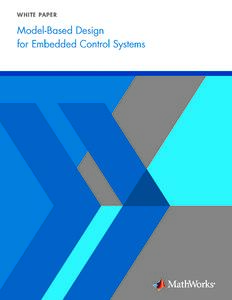 Model Based Design for Embedded Control System
