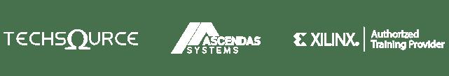 TechSource + Ascendas +Xilinx_White logos
