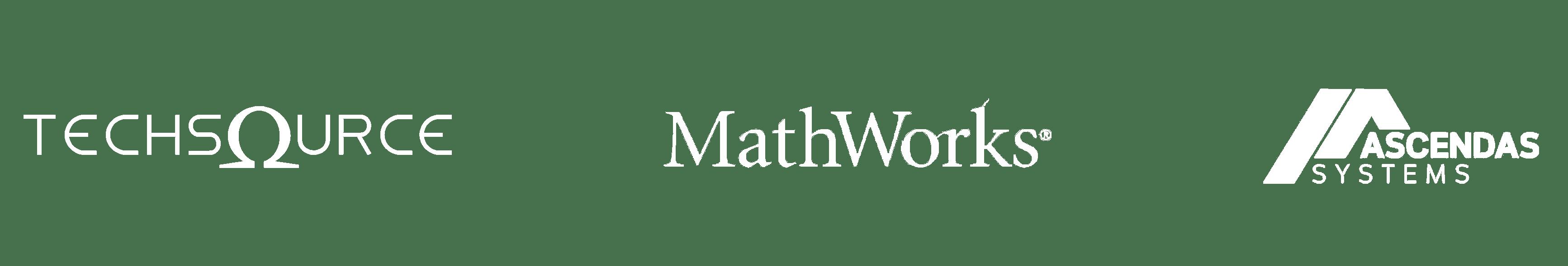 TechSource + MathWorks + Ascendas logos