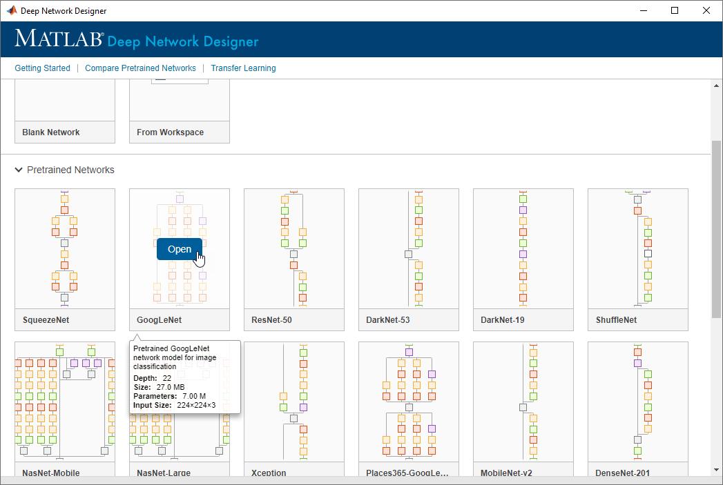 Deep_Network_Designer - MATLAB r2020a New App